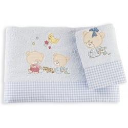 DIM Πετσέτες Happy Bears Σιέλ