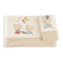 DIM Πετσέτες Happy Bears Εκρου