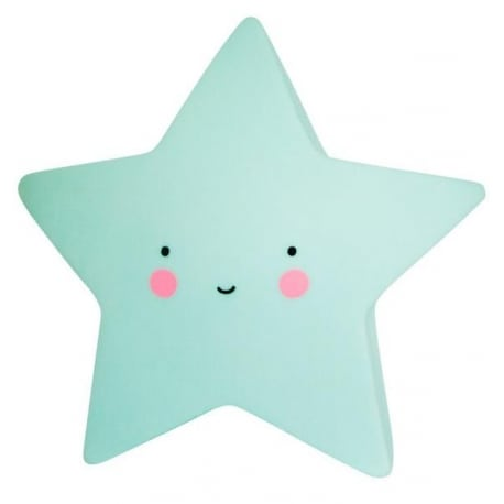 A LITTLE LOVELY COMPANY Mini Star Light Mint