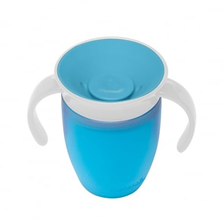 MUNCHKIN Κύπελο Miracle 360° Trainer Cup 6m+ Blue/White 207ml.