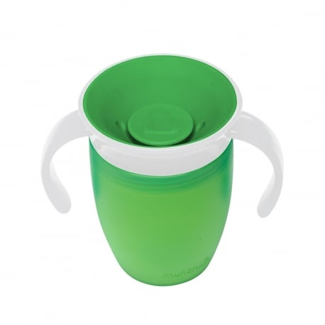 MUNCHKIN Κύπελο Miracle 360° Trainer Cup 6m+ Green/White 207ml.