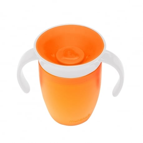 MUNCHKIN Κύπελο Miracle 360° Trainer Cup 6m+ Orange/White 207ml.