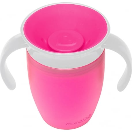MUNCHKIN Κύπελο Miracle 360° Trainer Cup 6m+ Pink/White 207ml.