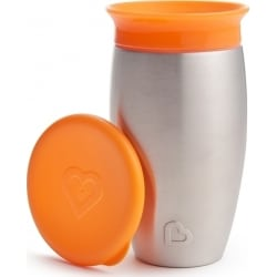 MUNCHKIN Miracle Stainless Steel 360° Sippy Cup 18m+ Πορτοκαλί
