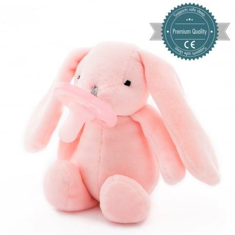 MinikOiOi Λούτρινο με Πιπίλα - Pink Sleep Buddy