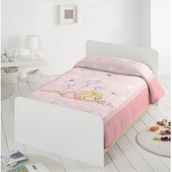 PIEL SA Κουβέρτα Βελουτέ Ισπανίας Αγκαλιάς Ροζ