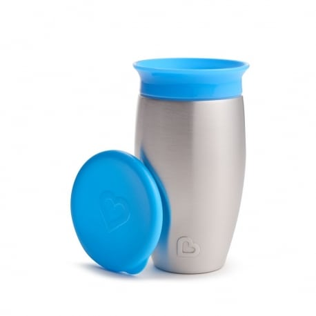 MUNCHKIN Miracle Stainless Steel 360° Sippy Cup 18m+ Blue