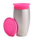 MUNCHKIN Miracle Stainless Steel 360° Sippy Cup Pink