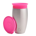 MUNCHKIN Miracle Stainless Steel 360° Sippy Cup 18m+ Pink