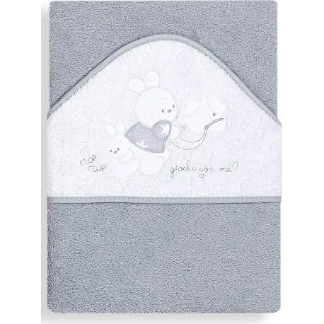 INTERBABY Μπουρνούζι Κάπα Clop - Clop Grey