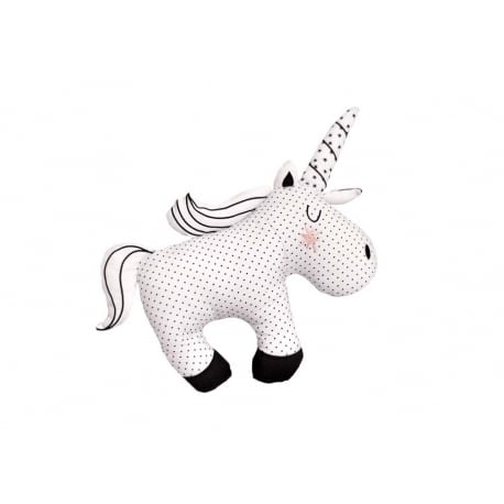 BIZZI GROWIN Μαξιλάρι Little Dreamer Monochrome Unicorn
