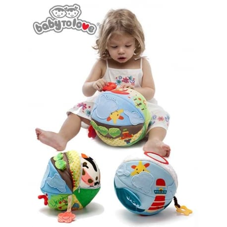 BABY TO LOVE Big 2 in1 Activity Ball Nature