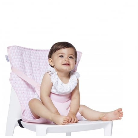 BABYTOLOVE Pocket Chair – Ροζ Καρδιες