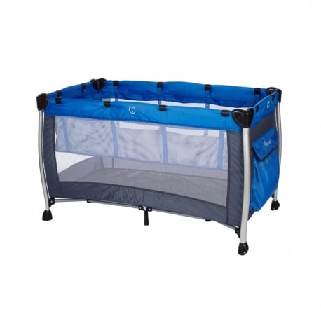 BABY ADVENTURE Παρκοκρέβατο 2 Θέσεων Holiday Aluminium Grey Blue