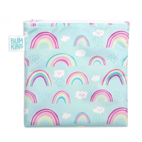Bumkins Large Snack Bag Rainbows