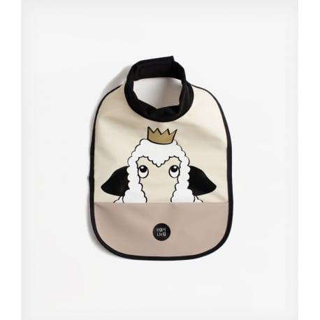 BabyLivia Αδιάβροχη Σαλιάρα Sheep Soft Beige