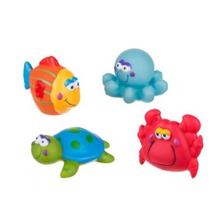 AKUKU Παιχνίδια μπάνιου Μπουγελοφατσάκια (σετ των 4)