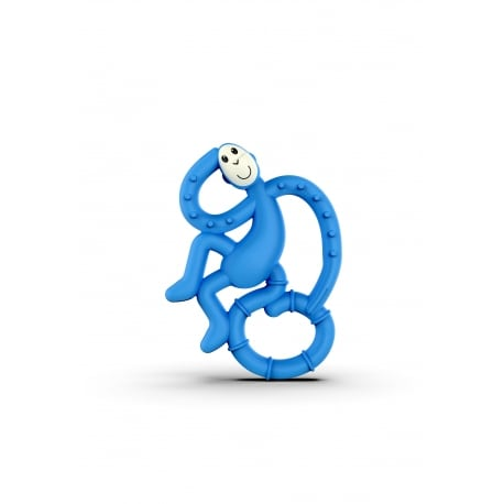 MATCHSTICK MONKEY Mini Monkey Teether Blue