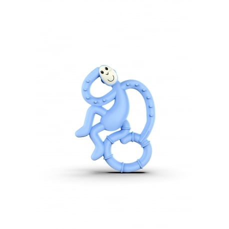MATCHSTICK MONKEY Mini Monkey Teether Light Blue