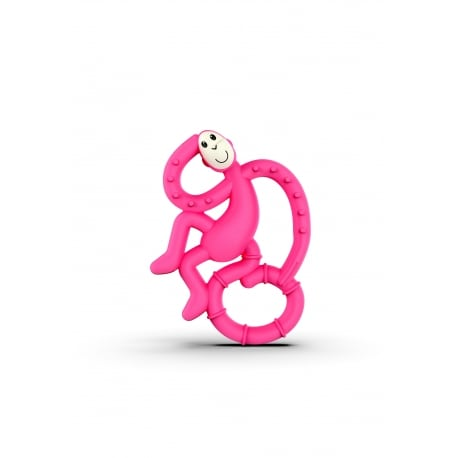MATCHSTICK MONKEY Mini Monkey Teether Pink