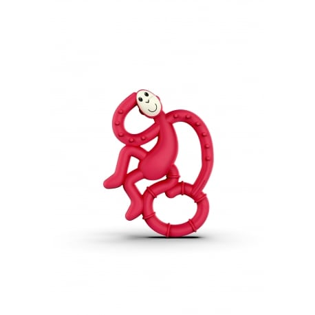 MATCHSTICK MONKEY Mini Monkey Teether Red
