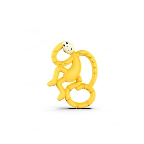 MATCHSTICK MONKEY Mini Monkey Teether Yellow