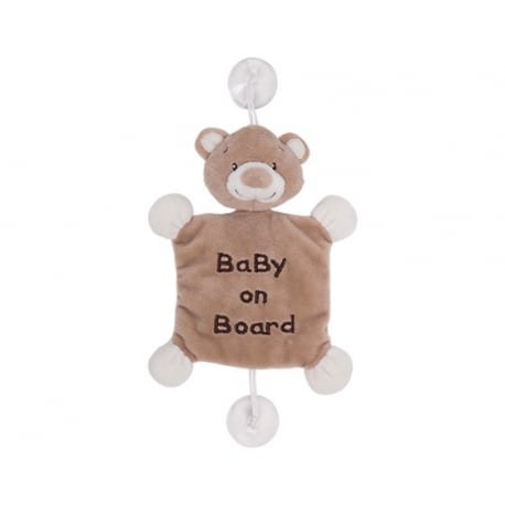 "KIKKA BOO  Bear plush ""Baby on board"" Toy"