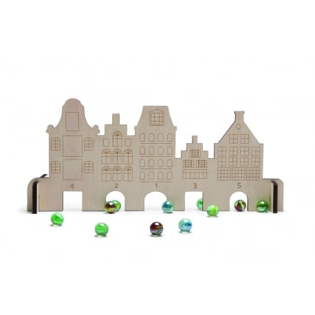 BS Toys Marble Houses  Σπιτάκια και βόλοι
