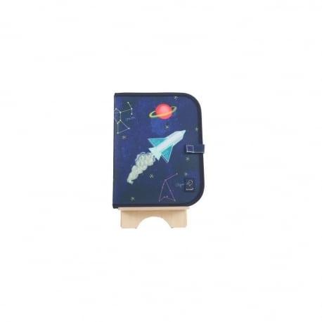 JAQ JAQ BIRD Σουπλά/Βιβλιαράκι Μαυροπίνακα Διάστημα