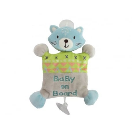 "KIKKA BOO Cat plush ""Baby on board"" toy"