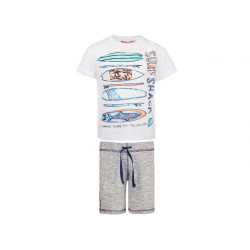 ENERGIERS Σετ βερμούδα αχνούδιαστο φούτερ και μπλούζα τύπωμα