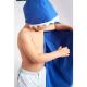 LITTLE CHAMPIONS Μπουρνούζι - Πετσέτα Microfiber Shark Blue