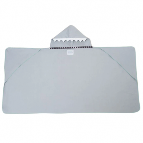 LITTLE CHAMPIONS Μπουρνούζι - Πετσέτα Microfiber Shark Grey