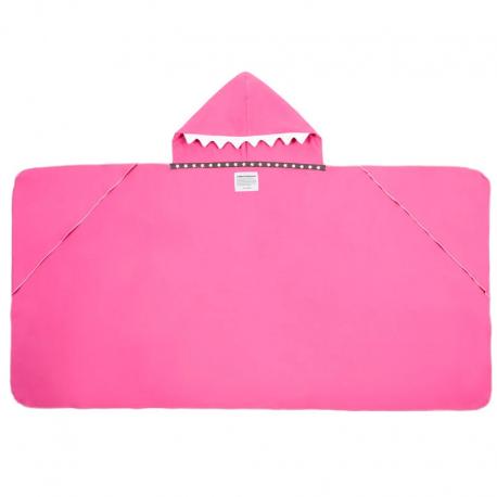 LITTLE CHAMPIONS Μπουρνούζι - Πετσέτα Microfiber Shark Pink