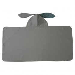 LITTLE CHAMPIONS Μπουρνούζι - Πετσέτα Microfiber Bunny Grey