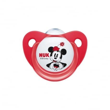 NUK Trendline Disney Minnie Ορθοδοντική Πιπίλα Σιλικόνης  0-6m 1τμχ