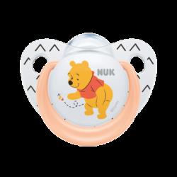 NUK Trendline Disney Winnie the Pooh Ορθοδοντική Πιπίλα Σιλικόνης  6-18m 1τμχ Somon