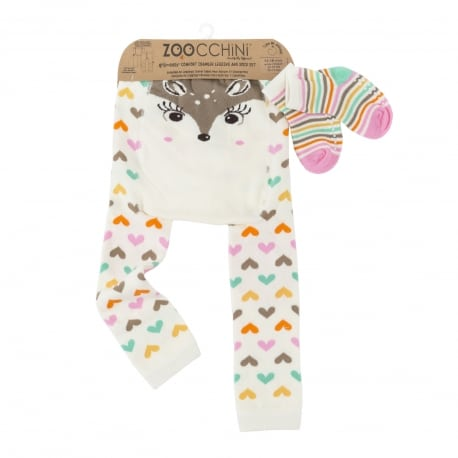 ZOOCCHINI Grip+Easy Crawler Pants & Socks Set – Fiona the Fawn