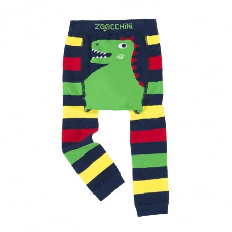 ZOOCCHINI Grip+Easy Crawler Pants & Socks Set – Devin the Dinosaur