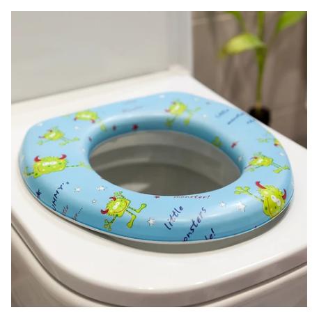 KIOKIDS Στεφάνι WC με Μαλακό Κάθισμα Little Monsters