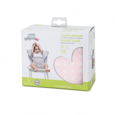 BABY TO LOVE Pocket Chair Ροζ Αστέρια