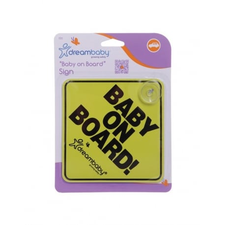 DREAMBABY Baby on Board Sign Yellow / Black