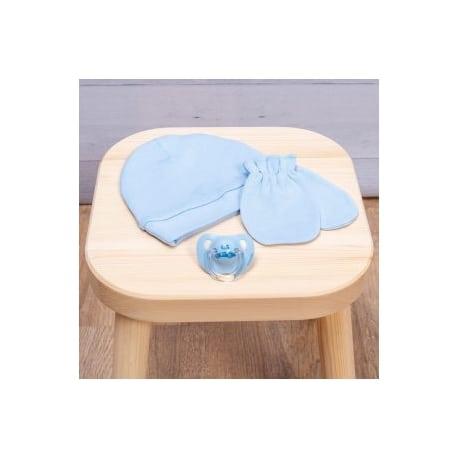 ABO Σετ γάντι-σκουφάκι Μπλε