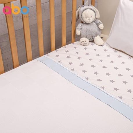 ABO Πικέ κουβέρτα 100*150 Elephant Σιέλ