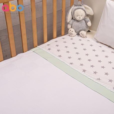 ABO Πικέ κουβέρτα 100*150 Elephant Μέντα