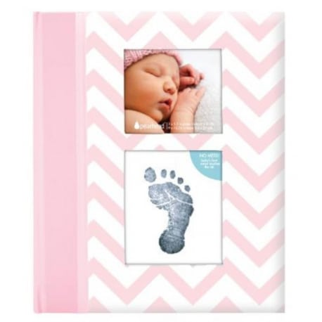 PEARHEAD Βιβλίο αναμνήσεων μωρού Chevron Grey